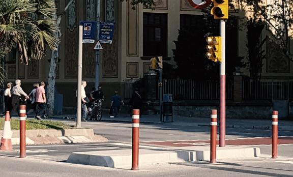 a-flex dt 100 carril bici instalada