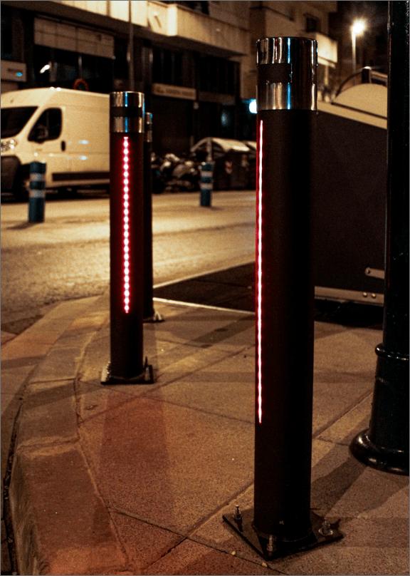 pilona urban leds instaladas